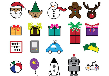 Santa Workshop Icons - Free vector #327041