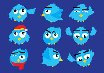 Twitter Bird Vectors - Free vector #327401