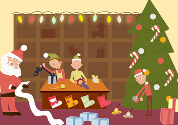 Santas Workshop Free Vector - vector gratuit #327421