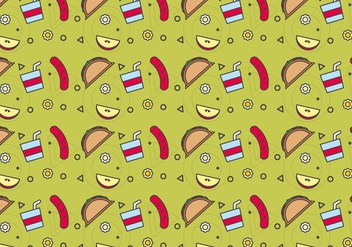 Free School Lunch Vector Pattern #6 - Free vector #327451