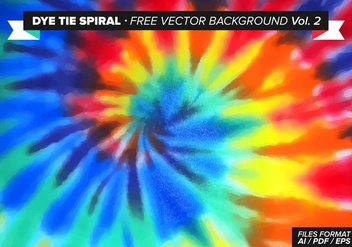 Tie Dye Spiral Free Vector Background Vol. 2 - Free vector #327501