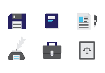 Free Law Office Vector Icons #8 - Free vector #327561