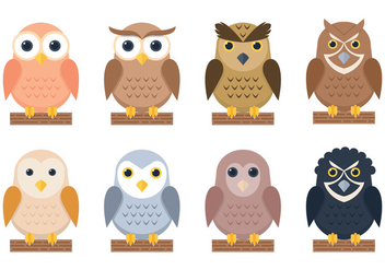 Owl Stickers - Free vector #327571