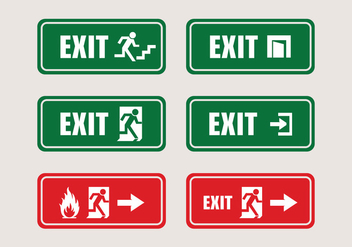 Vector Exit Sign System - Free vector #327661