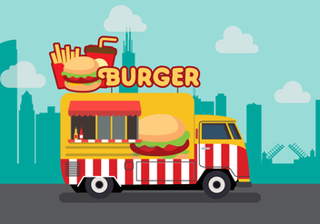 Vector Burger Truck - Kostenloses vector #327681