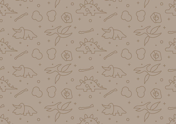 Free Dinosaur Pattern #10 - Free vector #327971