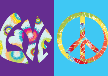 Tie Dye Vector Symbols Colors - Free vector #328001