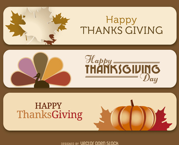 Thanksgiving banners - vector gratuit #328021