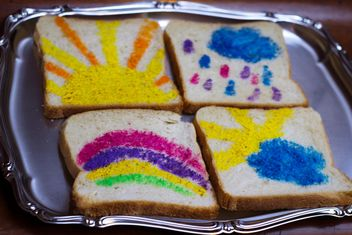 Painted Toast Bread - image gratuit #328061