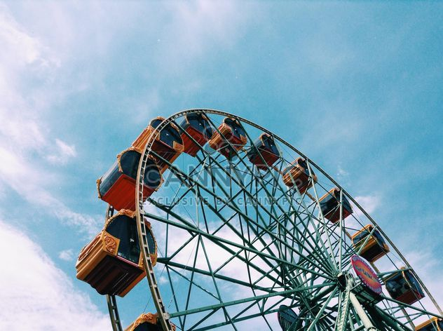 Ferris wheel against blue sky - Free image #328181