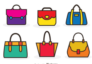 Vector Bag Color Icons - Free vector #328201