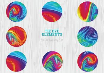 Tie Dye Vector Spheres - Free vector #328321