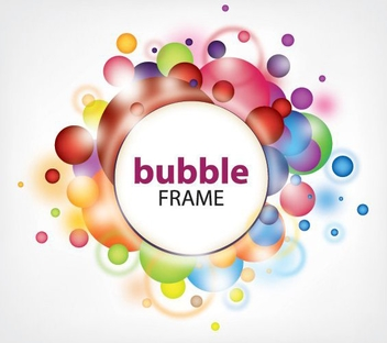 Colorful Bubbles Frame White Banner - vector gratuit #328351