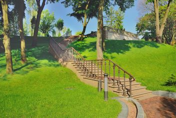 Steep stairs in Park - Free image #328431