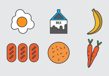 Free School Lunch Vector Icons #1 - Free vector #328671