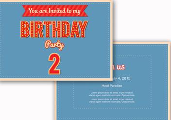 Birthday Invite Vector - Free vector #328721