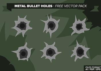 Metal Bullet Holes Free Vector Pack - Free vector #328741