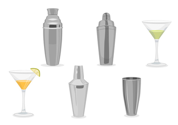 Cocktail shaker vectors - Free vector #328761