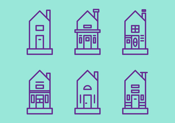 Free Townhomes Vector Icons #4 - бесплатный vector #328811