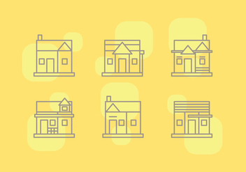 Free Townhomes Vector Icons #3 - бесплатный vector #328821