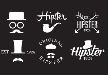 Set of Hipster Labels - vector gratuit #329321