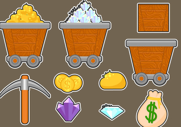 Gold Mine Icon Assets - Free vector #329441