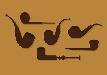 Tobacco Pipe Vector Set - Free vector #329451