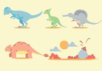 Dinosaur Vector Set - Kostenloses vector #329471