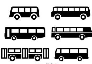 Bus Black Icons - vector gratuit #329491