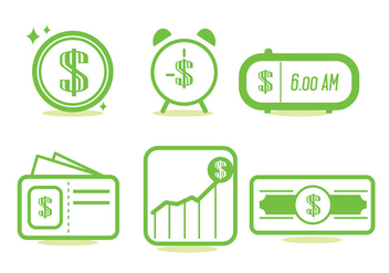 Time Is Money Icon Set - vector gratuit #329511