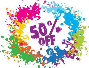 Colorful Splashed Discount Design - vector gratuit #329591