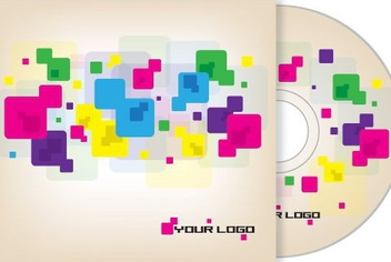 Colorful Cubes CD Cover Design - Free vector #329611