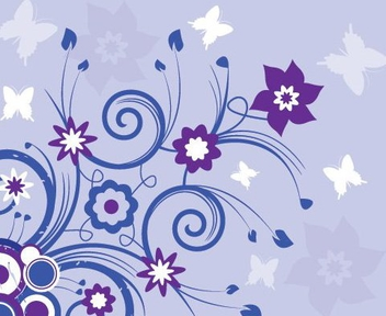 Blue Summer Swirls Background - Free vector #329621