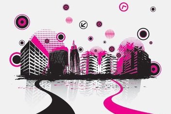 Soundtrack Musical Theme Cityscape - Free vector #329631
