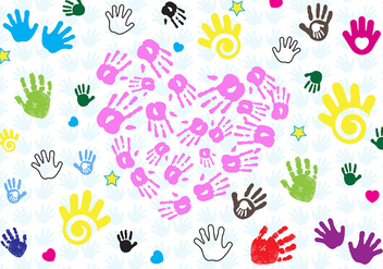 Free Baby Hand Print Vector - Free vector #329681