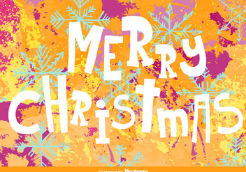 Merry christmas background - Free vector #329711