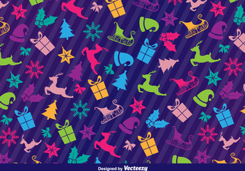 Christmas icons pattern - Free vector #329751