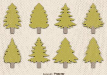 Flat pine vector - vector gratuit #329781