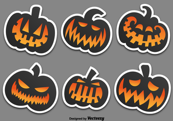 Pumpkins stickers - vector gratuit #329791