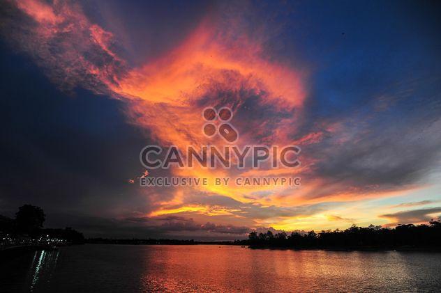 Sunset on a lake - Free image #329991
