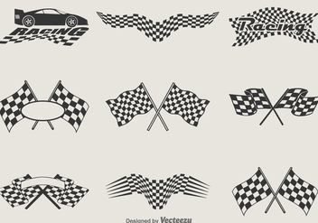 Free Vector Racing Flags - vector gratuit #330031