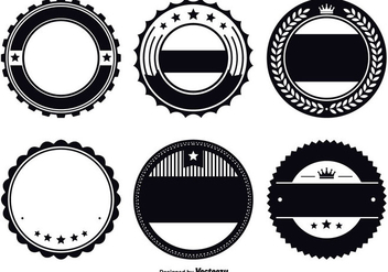 Assorted Badge Template Set - Free vector #330141