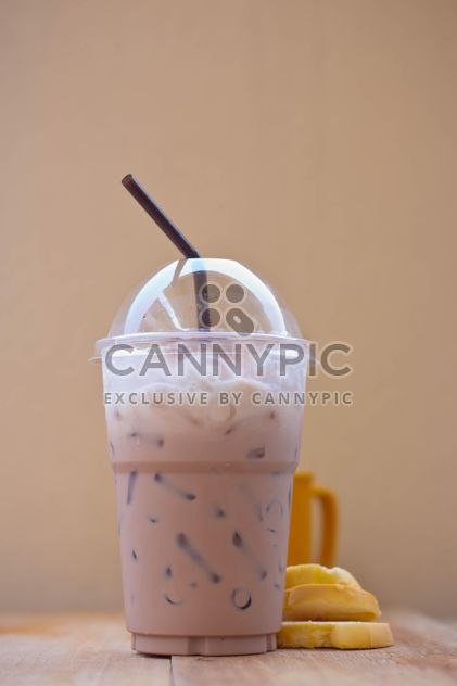 Iced coffee in plastic glass - Free image #330431