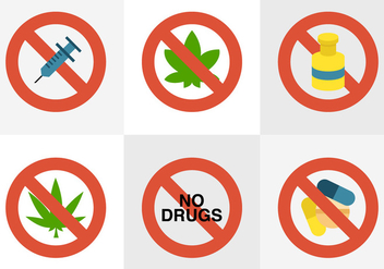 No Drugs - vector #330501 gratis