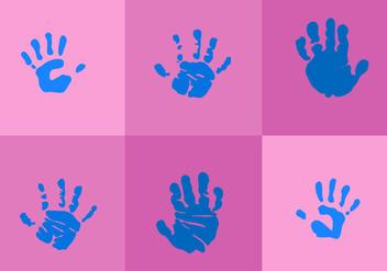Baby Hand Print Vectors - Free vector #330511