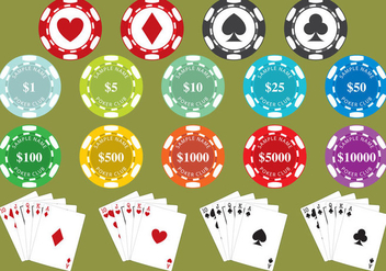 Poker Chips - vector gratuit #330571