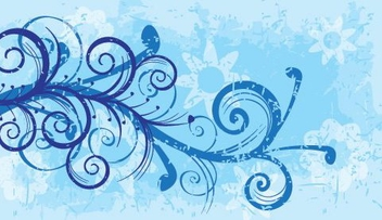 Floral Swirls Grungy Splashed Background - vector gratuit #330621