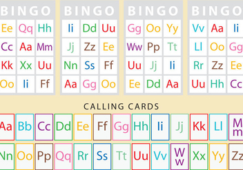 Characters Bingo Cards - vector #330771 gratis