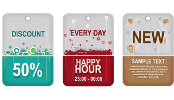 Promotional Sale Labels Pack - vector gratuit #330821