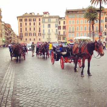 Horse-driven carriage in Rome - Free image #331051
